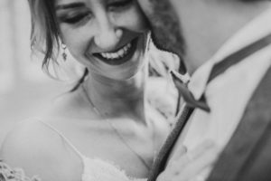 Bridal couple in love, smile, detail,