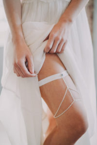 Bride with garter, detail,