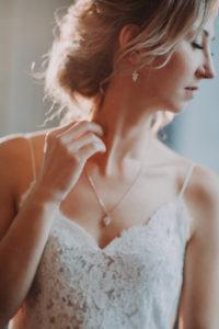 Braut, seitlich, Porträt, Detail,