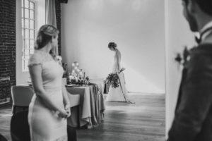 Wedding, bride, groomsmen, hall,