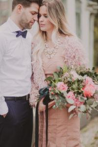 Brautpaar, Berührung, Augen geschlossen, Detail,