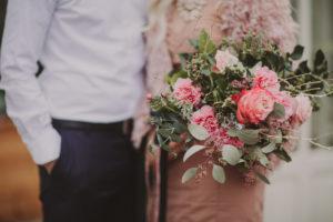 Brautpaar, Blumenstrauß, Detail,