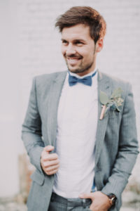 Groom, half portrait, blur
