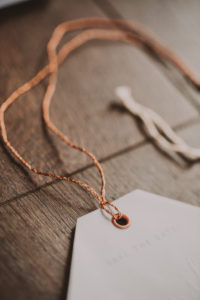 Save-the-date card, detail, cord, blur,