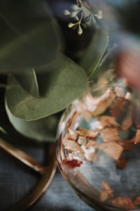 Decoration, Leaves, Eucalyptus, Glass, Detail, Blur,