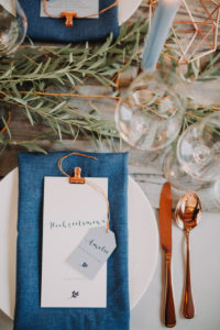 Hochzeit, Tischdekoration, Detail, Platzkarte, Menükarte,