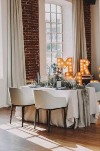 Hochzeit, Tisch, gedeckt,