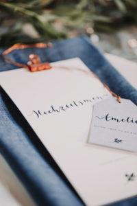 Hochzeit, Platzkarte, Menükarte, Detail, Unschärfe,