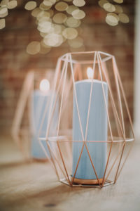 Dekoration, Kerzenhalter, geometrisch,