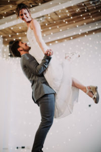 Wedding, newlyweds, happy, wedding dance, lifting figure,