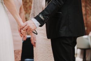 Hochzeit, Braut, Senior, Detail, Hände, halten,