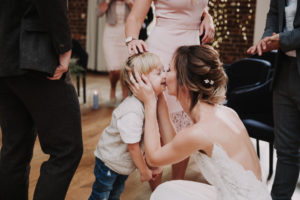 Wedding, bride, boy, kissing,