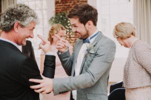 Hochzeit, Bräutigam, Senior, Spaß, lächeln,