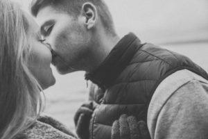 Junges Paar, Kuss
