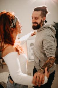verliebtes junges Hipster-Paar