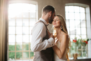 Newlyweds, young, inside