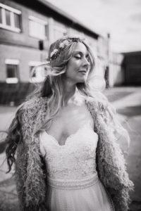 Woman, wedding dress
