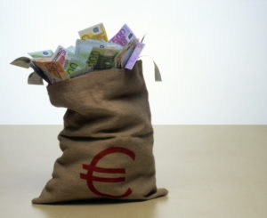 Moneybags, bills, Euro,    Series, sack, jute sack, money, means of payment, cash, appearances, Euro appearances, business, economy, currency, unit currency, EC, Europe, European, value, differently, saves, savings, studio, quietly life,