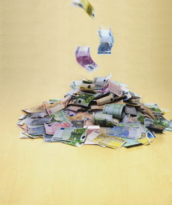 Pile, bills, Euro,    Series, Euro appearances, value, differently, money bills appearances, unit currency, currency unit, means of payment, European, money pile, concept, profit, wealth, savings, quietly life, fact reception,