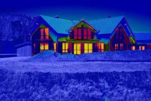 Wohnhaus, Wärmebild,