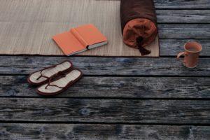 Bath utensils, book, coffee mug, jetty,