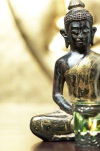Buddha statue, close-up,