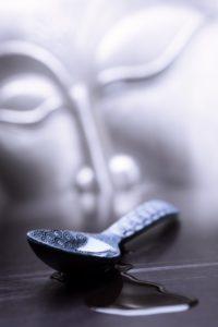 Buddha, face, spoon, oil,