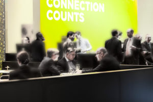 blurred contours of business people