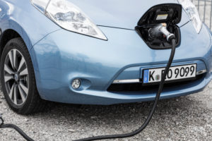 Electric car while loading