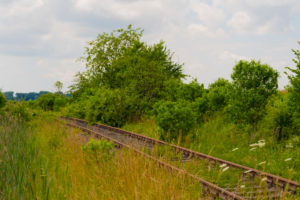 old railway track in germany