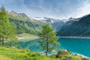 Mühlwald, Provinz Bozen, Südtirol, Italien, Europa. Der Neves Stausee