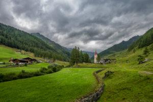 Prettau, province of Bolzano, South Tyrol, Italy. The Holy Spirit Chapel