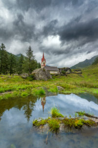 Prettau, province of Bolzano, South Tyrol, Italy. The Holy Spirit chapel