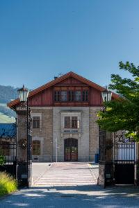 Toblach, South Tyrol, Bolzano province, Italy. Toblach train station