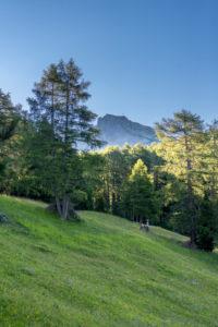Aldein, Provinz Bozen, Südtirol, Italien. Geoparc Bletterbach. Das Aldeiner Weißhorn