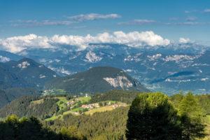 Aldein, Provinz Bozen, Südtirol, Italien. Geoparc Bletterbach. Das Dorf Radein