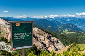 Aldein, Provinz Bozen, Südtirol, Italien. Geoparc Bletterbach.