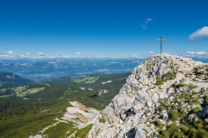 Aldein, Province of Bolzano, South Tyrol, Italy. Geoparc Bletterbach. The summit of the Aldeiner Weißhorn