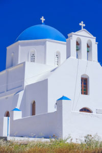 Greek Orthodox church, Amorgos, Cyclades Islands, Greece, Europe