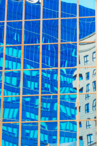 Buildings reflection, Auckland, North Island, New Zealand