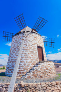 Traditional windmill, Fuerteventura, Canary Islands, Spain