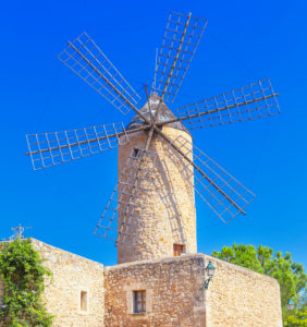 Traditional wiindmill, Sineu, Mallorca,, Balearic Islands, Spain, Europe