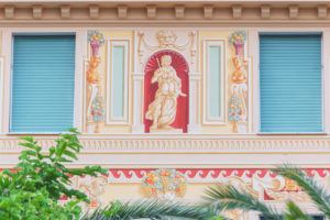 Traditional Ligurian house facade, Sestri Levante, Liguria, Italy,
