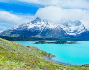 Torres del Paine and Lake Nordenskjold, Torres del Paine National Park, Patagonia, Chile, South America