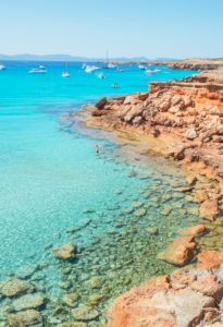 Cala Saura, Formentera, Baleric Islands, Spain