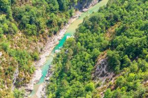 Gorge du Verdon, aerial view, Alpes de Haute Provence, Provence, France