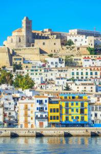 Ibiza old town and harbor, Ibiza town, Ibiza, Balearic Islands, Spain, Europe