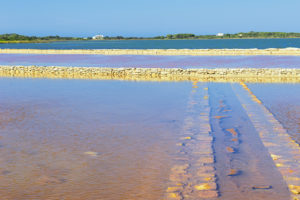 Salt lake, Formentera, Balearic Islands, Spain