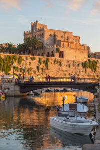 Historic old harbor, Ciutadella, Menorca, Balearic Islands, Spain, Europe,