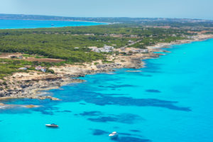 Formentera Island, top view, Formentera, Balearic Islands, Spain